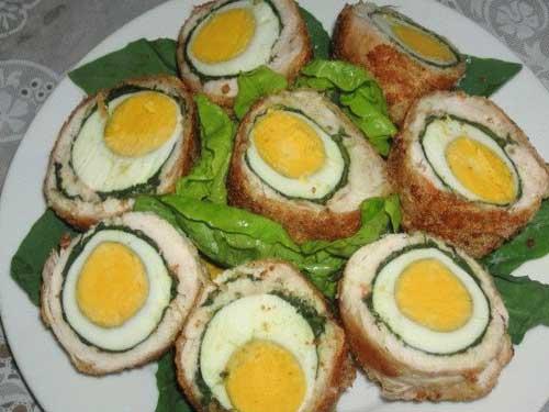 Как сделать куриный рулет с яйцами