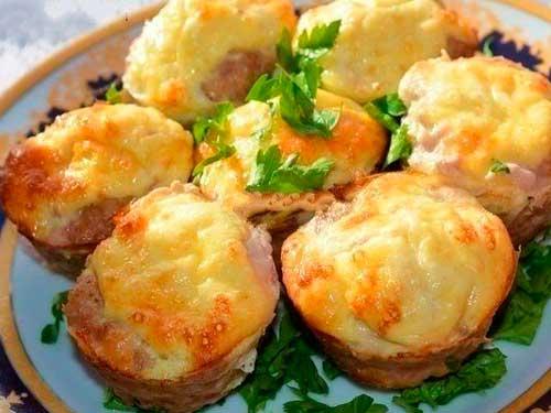 Маффины мясные с сыром рецепт